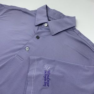 Footjoy Short Sleeve Purple Striped Polo
